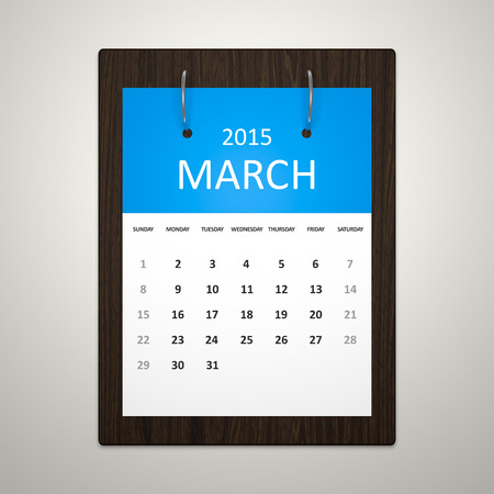 event planning: An image of a stylish calendar for event planning March 2015