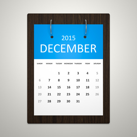event planning: An image of a stylish calendar for event planning December 2015