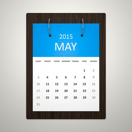 event planning: An image of a stylish calendar for event planning May 2015