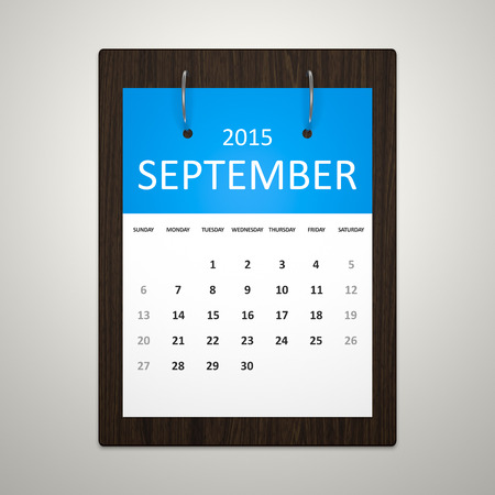 event planning: An image of a stylish calendar for event planning September 2015