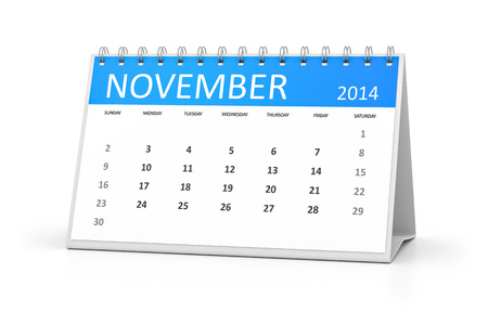 An image of a table calendar for your events November 2014 photo