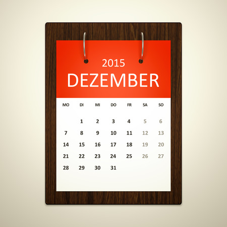 event planning: An image of a german calendar for event planning december 2015