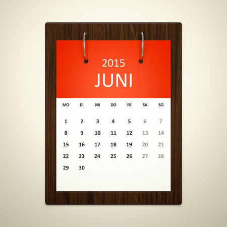 event planning: An image of a german calendar for event planning june 2015