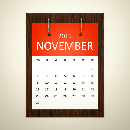 event planning: An image of a german calendar for event planning november 2015 Stock Photo