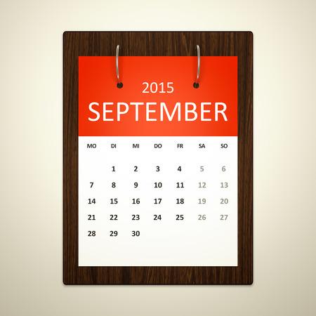 event planning: An image of a german calendar for event planning september 2015