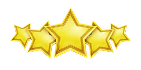 restaurant rating: An image of a five star rating service