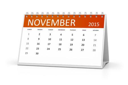 table calendar: An image of a table calendar for your events November 2015