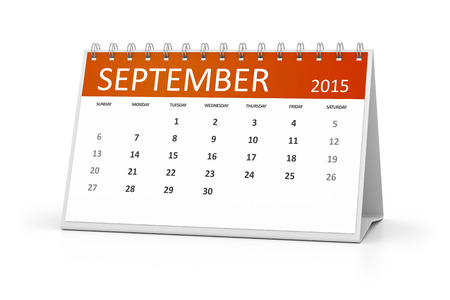 table calendar: An image of a table calendar for your events September 2015