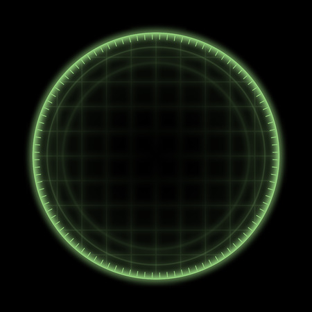 An image of a green radar ring background photo