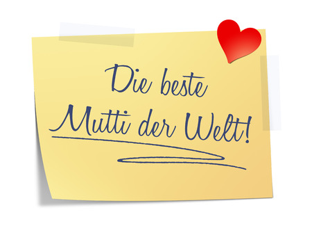 mother board: A paper with the message the best mother on earth in german language Stock Photo