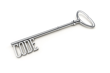An image of a key with the word code photo