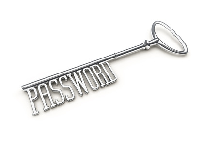 An image of a key with the word password photo