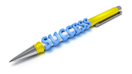 deliverable: An image of a every day ball pen with the message success