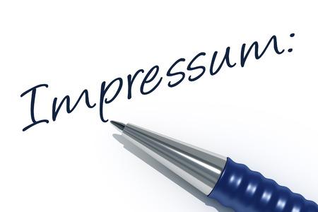 ドイツ語でメッセージ刻印付きペンのイメージ