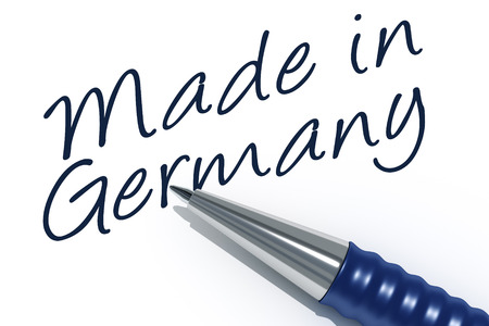 tip style design: An image of a pen with the message made in germany