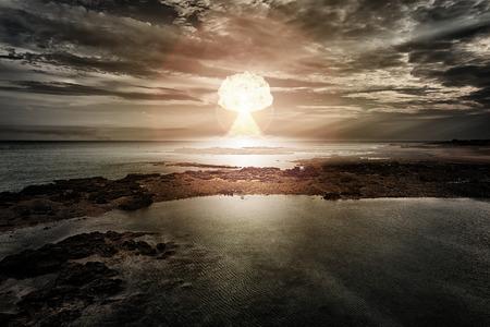 Une image d'une explosion d'une bombe nucléaire