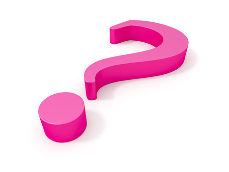 questionmark: An image of a big pink questionmark Stock Photo