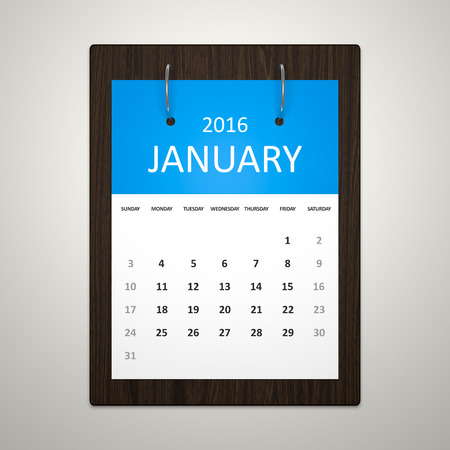 event planning: An image of a stylish calendar for event planning january 2016