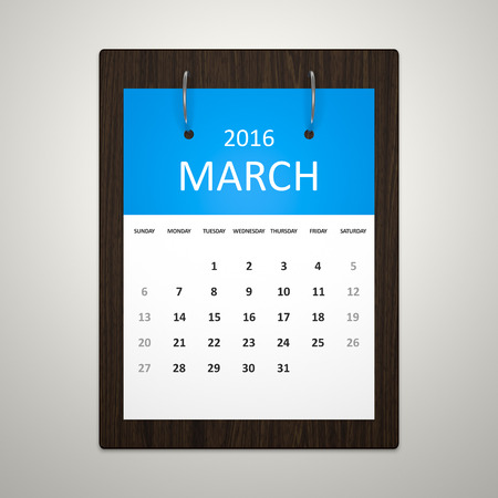 event planning: An image of a stylish calendar for event planning march 2016
