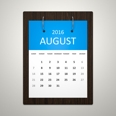 event planning: An image of a stylish calendar for event planning 2016 august