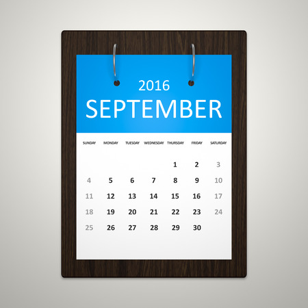 event planning: An image of a stylish calendar for event planning 2016 september