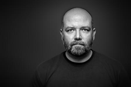 ひげを持つ男のイメージ 写真素材