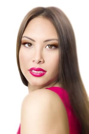 A portrait of a beautiful young asian woman photo