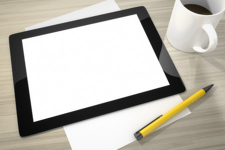 An image of a tablet pc with space for your content photo