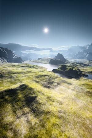 An image of a beautiful fantasy landscape Stockfoto
