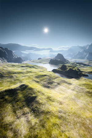 An image of a beautiful fantasy landscape Foto de archivo