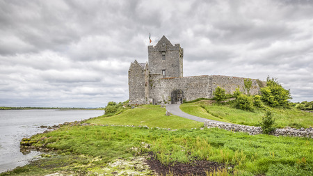irish history: A HDR image of the Dunguaire Castle in Ireland Editorial