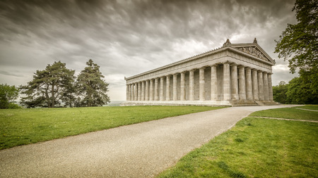 hdri: An image of the Walhalla in Bavaria Germany