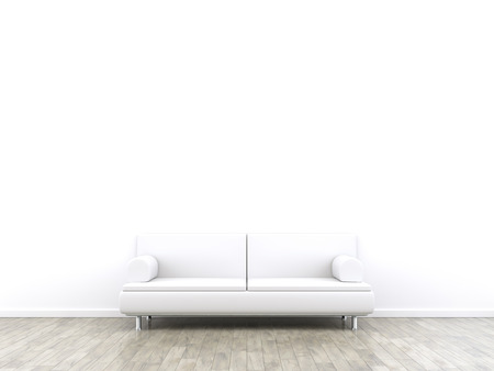 3d rendering of a room and a sofa with space for your content Stock Photo - 40272618
