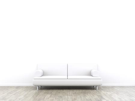 Rendering 3D di una stanza e un divano con spazio per il tuo contenuto Archivio Fotografico - 40272618
