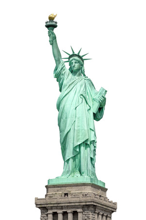 liberty island: An image of the Statue of Liberty in New York isolated on white