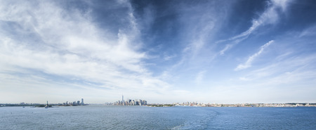 river view: A panoramic image of New York Manhattan