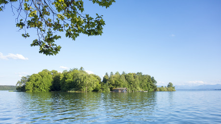 ludwig: An image of the Rose Island of King Ludwig II in Bavaria Germany