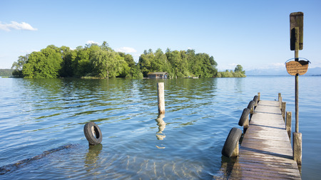 jetty: An image of the Rose Island of King Ludwig II in Bavaria Germany