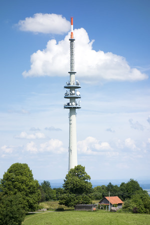 radio tower: An image of the radio tower at the Hoher Peissenberg Bavaria Germany