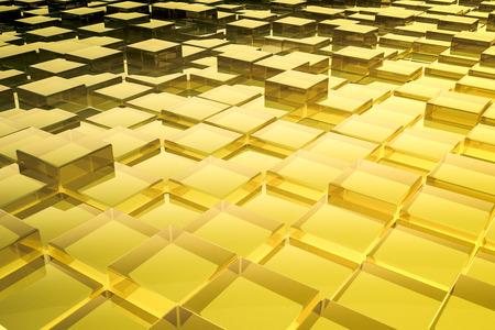 building bricks: An image of a nice abstract glass cubes background Stock Photo