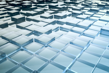 organization design: An image of a nice abstract glass cubes background Stock Photo
