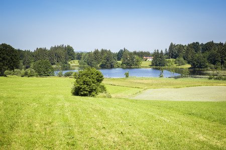 An image of a beautiful landscape near Murnau Bavaria Germany Stock Photo