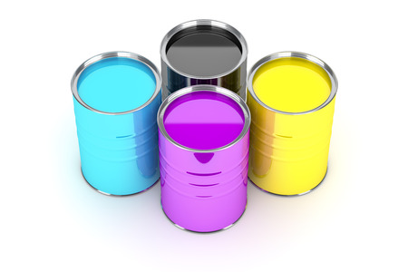 paint cans: An image of some nice paint cans Stock Photo