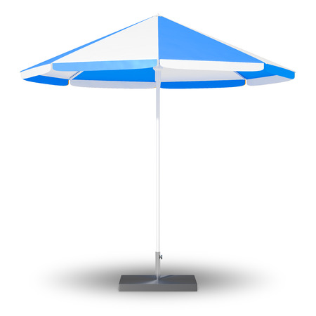 An image of a sun protection umbrella Stock Photo