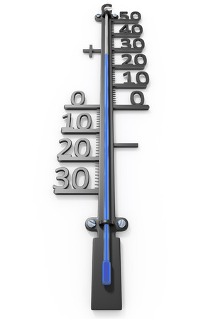 scale up: An image of an isolated simple thermometer Stock Photo