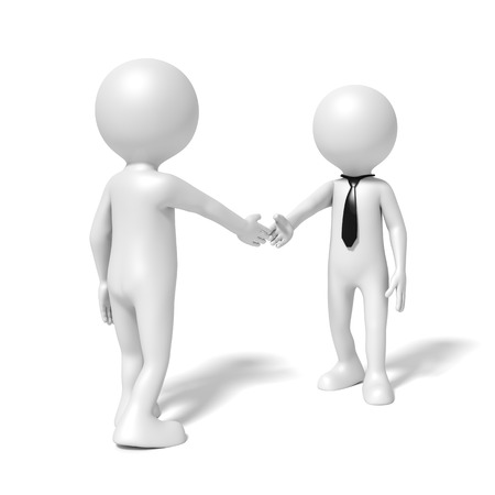 two people meeting: An image of a business people shaking hands