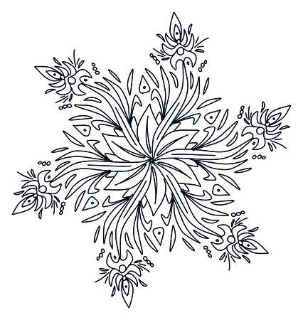 An image of a nice floral mandala Imagens - 44077242