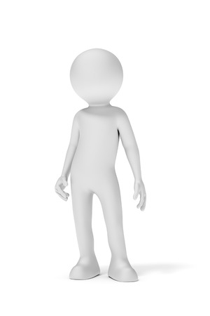 standing man: An image of a simple standing man