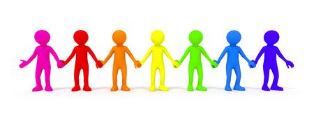 diversidad: La diversidad simbolizado con algunas personas de color