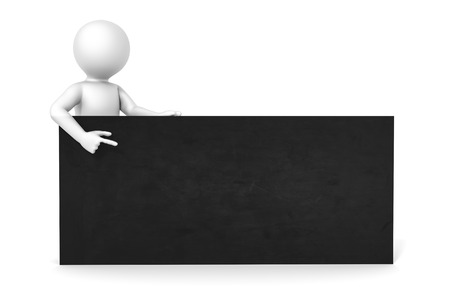 standing man: An image of a man with a black board with space for your content